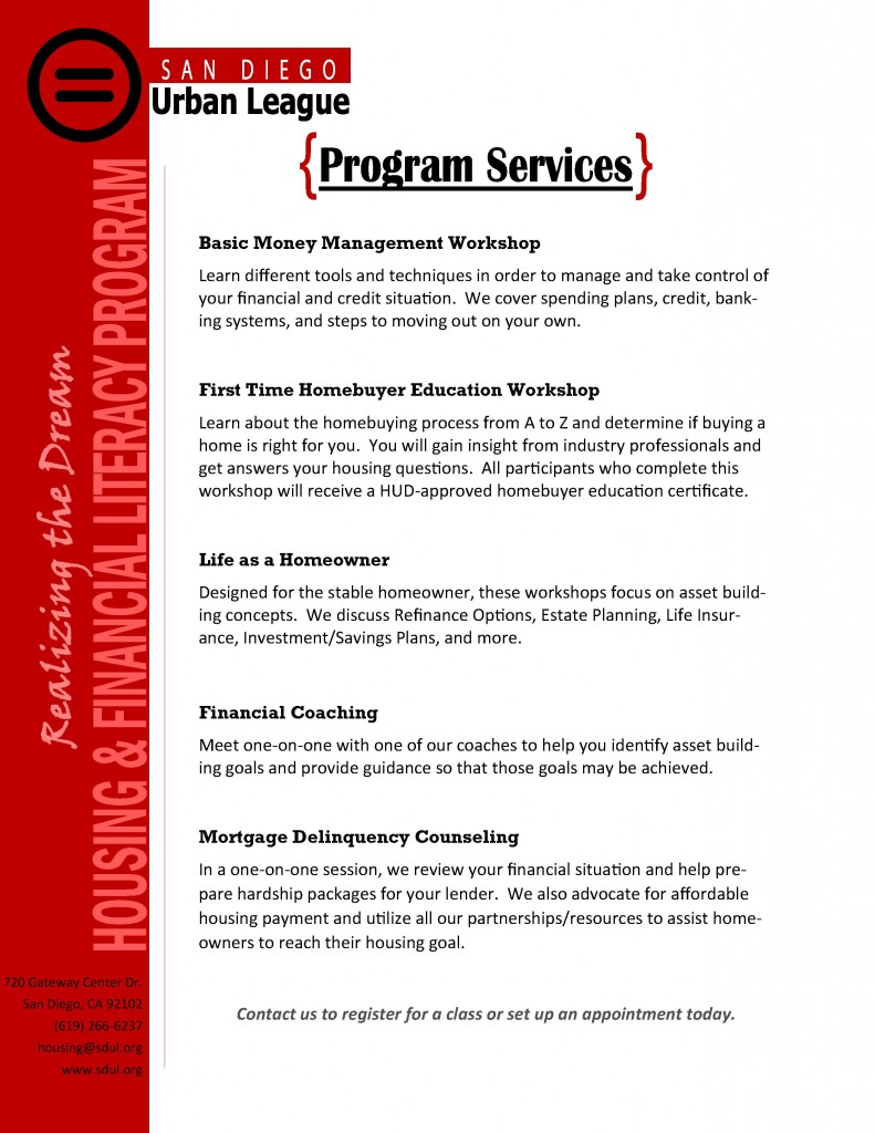 One Pager of Services