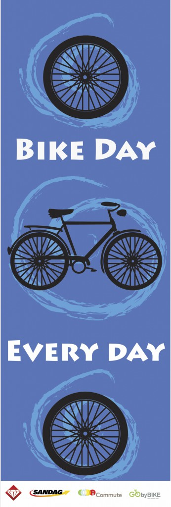 Bike banners designed by Jessie and her team for the Diamond Business Association - BID