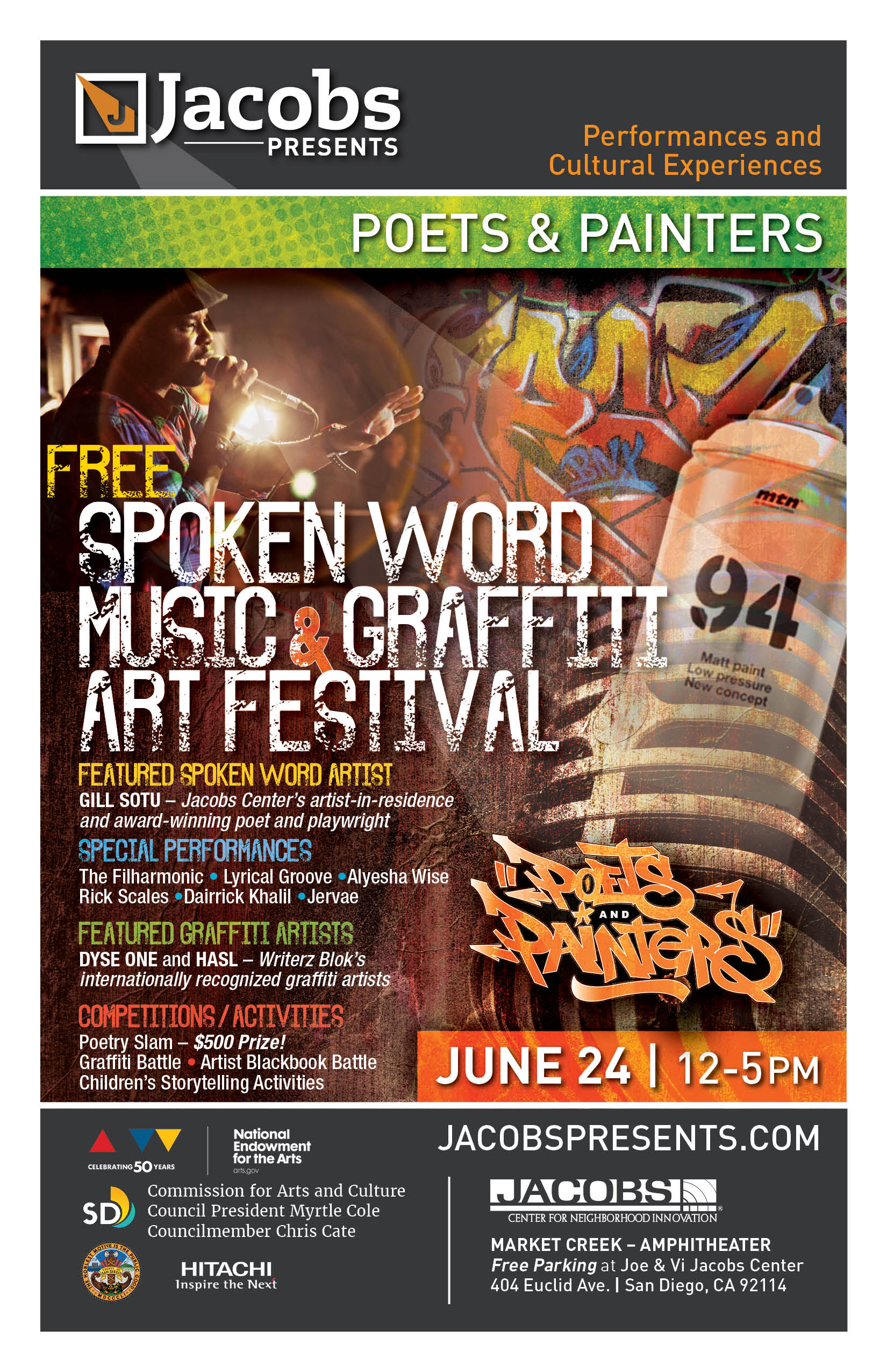 Poets & Painters Spoken Word, Music, and Graffiti Arts Festival